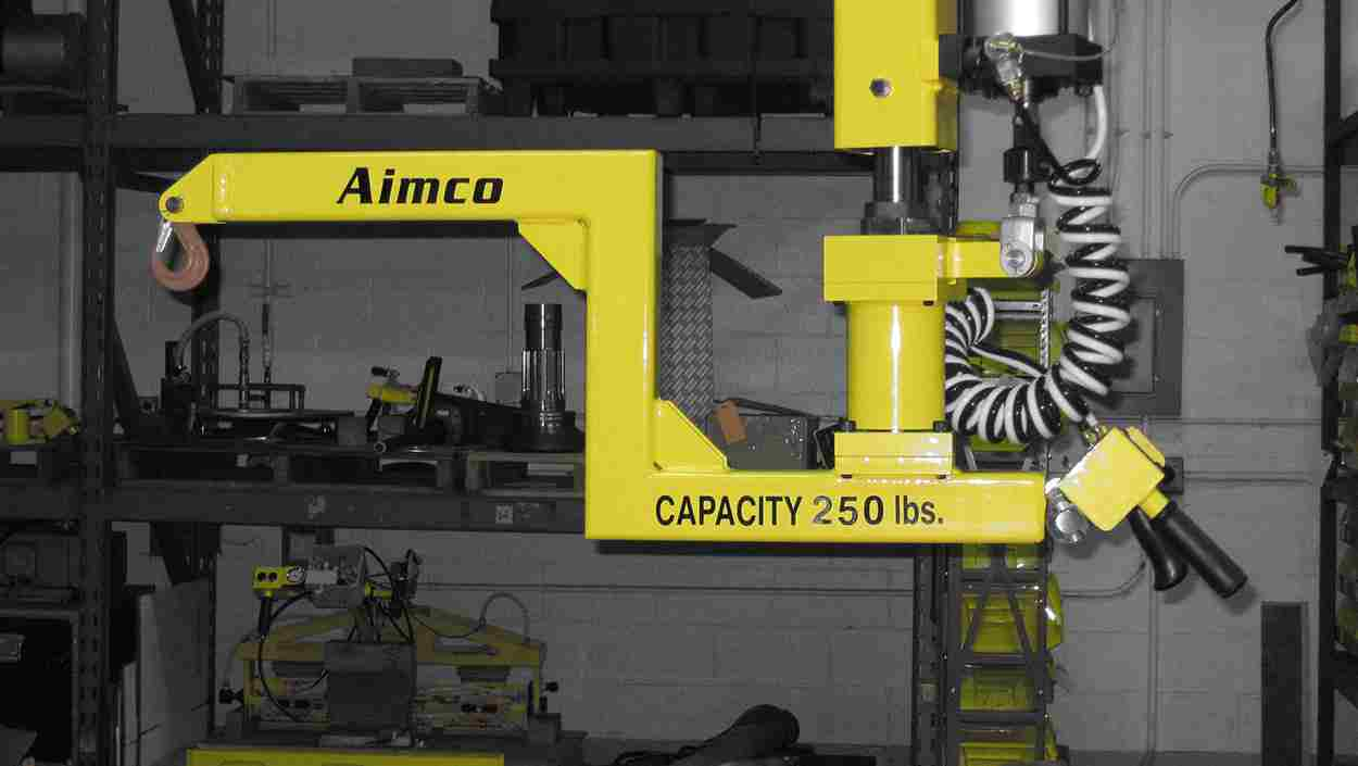 Lift Assist Articulating Arm : Articulated lifting arm aimco manufacturing